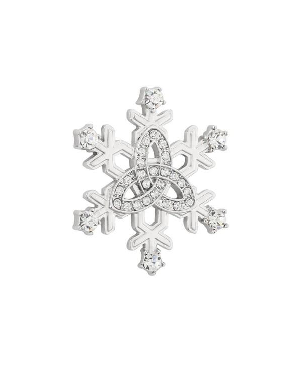 Irish Brooch Snowflake Crystal & Rhodium Plated Made in Ireland - CX11ZC507IZ