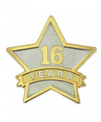 PinMart's 16 Year Service Award Star Corporate Recognition Dual Plated Lapel Pin - CG11NKC5NZ9