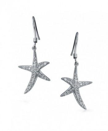 Bling Jewelry Starfish Earrings Sterling