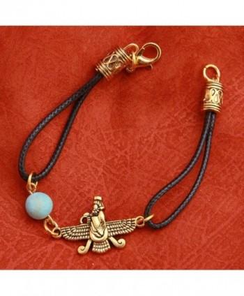 Iranian Turquoise Farvahar Faravahar Bracelet