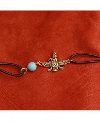 Iranian Turquoise Farvahar Faravahar Bracelet in Women's Strand Bracelets