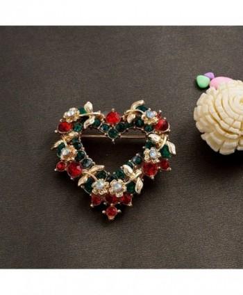 LilyJewelry Christmas Brooch Pin Heart