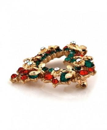 LilyJewelry Christmas Brooch Pin Heart in Women's Brooches & Pins