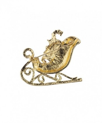 Lux Accessories Holiday Christmas Sleigh