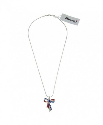PammyJ Crystal American Pendant Necklace