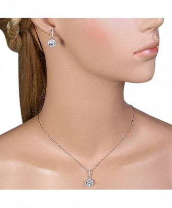 EVER FAITH Sterling Gorgeous Necklace in Women's Jewelry Sets