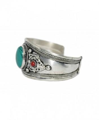 Bracelet Coral Turquoise Nepal Tibetan