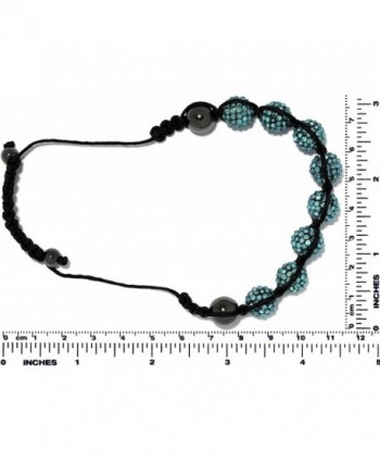 AnsonsImages Shamballa Rhinestone Turquoise Adjustable in Women's Strand Bracelets