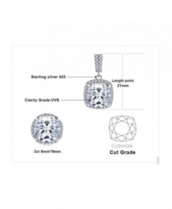 JewelryPalace Zirconia Solitaire Sterling Necklace