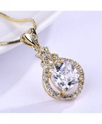 GULICX friendship Crystal Pendant necklace in Women's Pendants