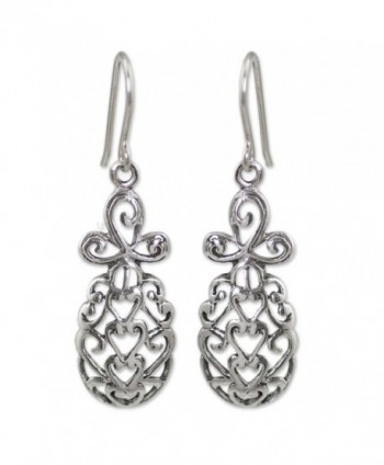 NOVICA .925 Sterling Silver Dangle Earrings- 'Tropical Pineapple' - CE11G3XX2HX
