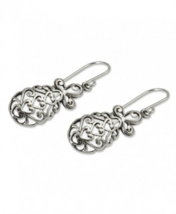 NOVICA Sterling Earrings Tropical Pineapple