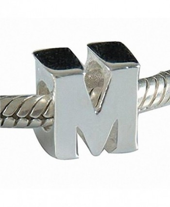 CharmsJewelry 925 Sterling Letter Initial A-Z Alphabet Charm Bead Fits Charms Bracelet-Necklace - M - C912DAM6559