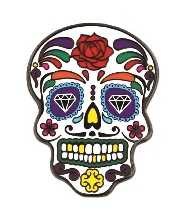 PinMart's Day of the Dead Dia de Muertos Halloween Enamel Lapel Pin - C712MA32WSY