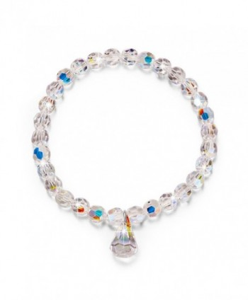 "LadyColour ""Pure Love"" Stretch Beads Bracelet 6.5"" Made with Swarovski Crystals - C112FKJWGWR"