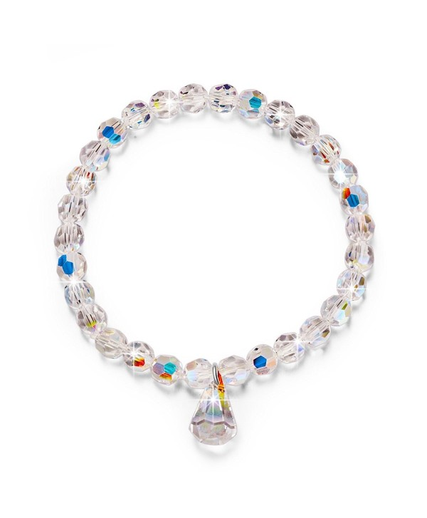 """LadyColour """"Pure Love"""" Stretch Beads Bracelet 6.5"""" Made with Swarovski Crystals - C112FKJWGWR"""