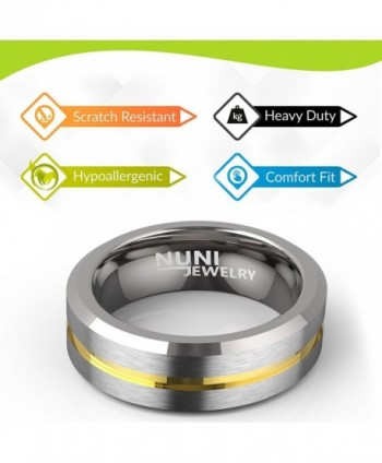 Nuni Jewelry Tungsten Wedding Polished