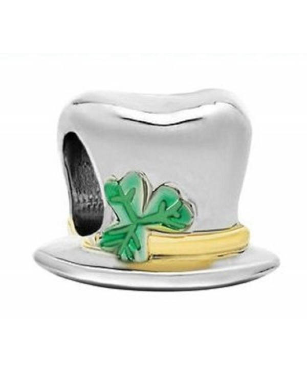 Rosemarie Collections Women's Irish Leprechaun Hat Charm Bracelet Bead - C811QW6S2TJ