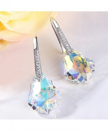 EleQueen Sterling Earrings Iridescent Swarovski