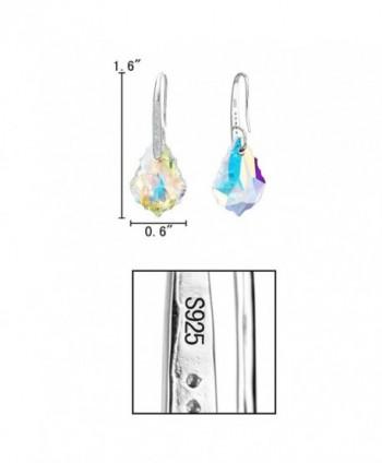 EleQueen Sterling Earrings Iridescent Swarovski in Women's Drop & Dangle Earrings