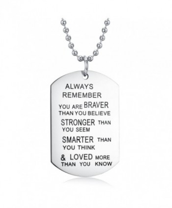 Udobuy Stainless Remember Inspirational Engraved - C812F699NLX