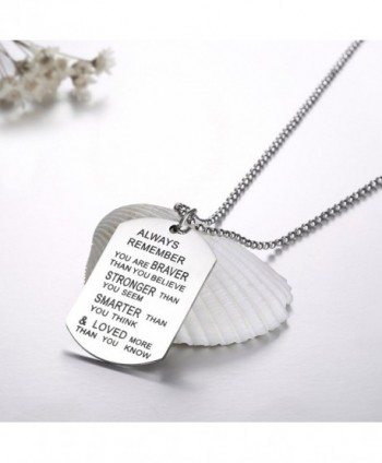 Udobuy Stainless Remember Inspirational Engraved