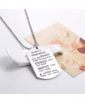 Udobuy Stainless Remember Inspirational Engraved in Women's Pendants
