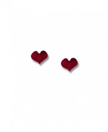 Enamel Valentine Red Heart Post Earrings by The Magic Zoo - CT119CVBHKH