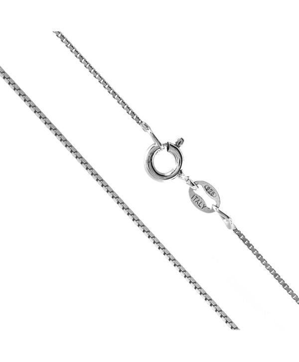 """Sterling Silver 1mm Box Chain Necklace- 14"""" - 36"""" - CQ11DJY8K9T"""