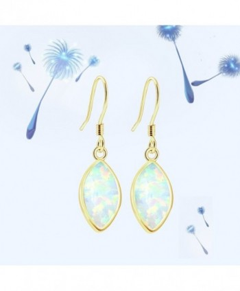 Sinlifu Gemstone Australian Marquise Earrings in Women's Drop & Dangle Earrings