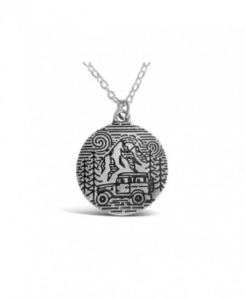 Rosa Vila Camping Necklace - Camping In The Park Mountain Ranges and Forest Stamped Necklaces for Women - C7183TW7IT8