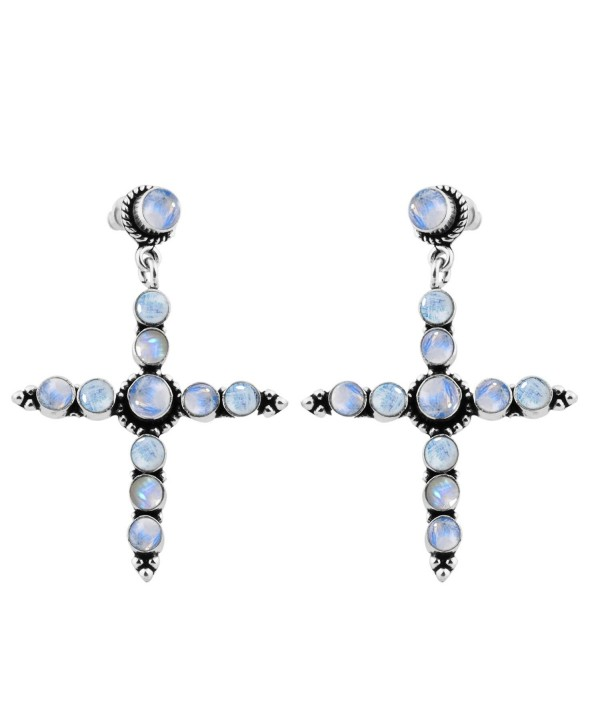 10 60ctw Moonstone Silver Sterling Jewelry - Rainbow Moonstone - C3125VY61SV