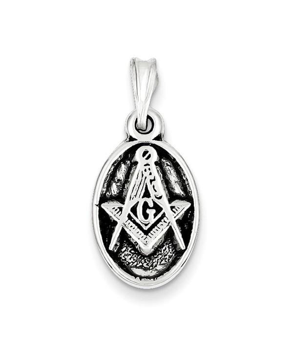 Sterling Silver Antiqued Masonic Charm - CB113PTH2BZ