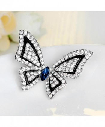 SANWOOD Butterfly Rhinestone Wedding Bouquet