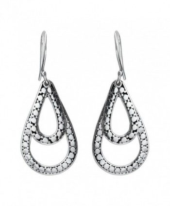 NOVICA Teardrop Shaped .925 Sterling Silver Dangle Earrings- 'Raindrop Tears' - C611CGNI607