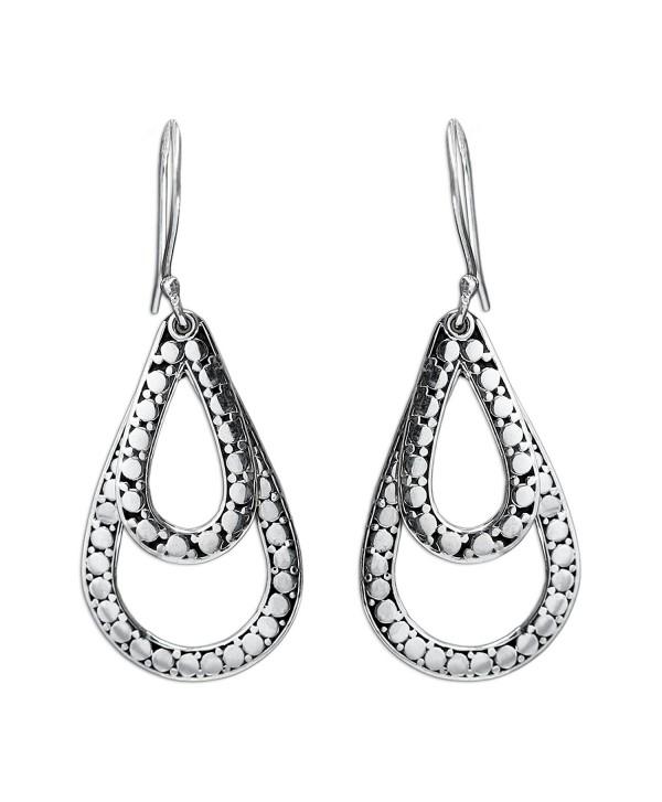 NOVICA Teardrop Shaped .925 Sterling Silver Dangle Earrings- 'Raindrop Tears' - C611CGNI607