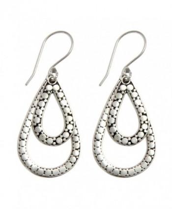 NOVICA Teardrop Sterling Earrings Raindrop