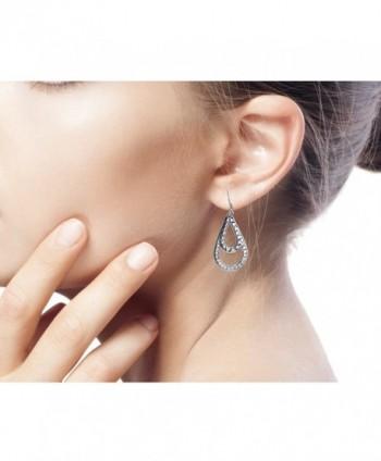 NOVICA Teardrop Sterling Earrings Raindrop in Women's Drop & Dangle Earrings