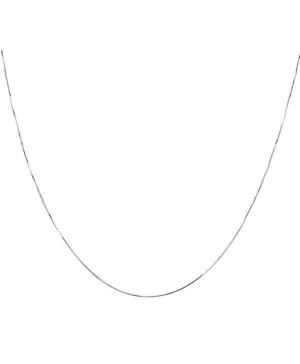 925 Sterling Silver Italian 1MM 8 Side Diamond Cut Snake Chain Necklace Lobster Claw Clasp With Extra Free Gift - CI12O4Z83JB