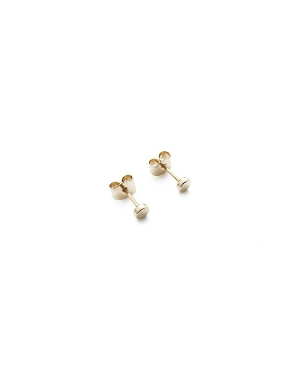 HONEYCAT Tiny Circle Stud Earrings in Gold- Rose Gold- or Silver | Minimalist- Delicate Jewelry - Gold - CX12KON6Y3L