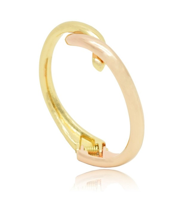 BEMI Elegant Silver Polished Bracelet - Gold and Rose Gold - CM185OYSKTY