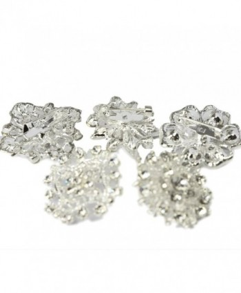 kilofly Rhinestone Crystal Bouquet Corsage in Women's Brooches & Pins