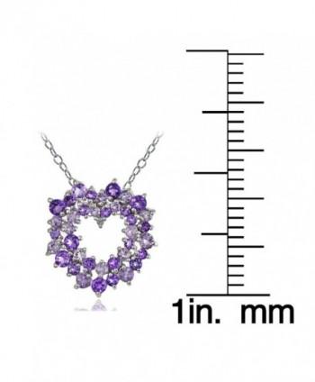 Sterling African Amethyst Diamond Necklace in Women's Pendants