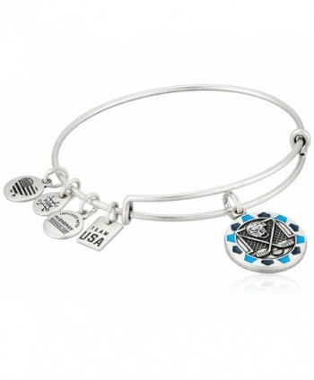 Alex and Ani Womens Ice Hockey Bangle - Rafaelian Silver - C7185O9WWLT