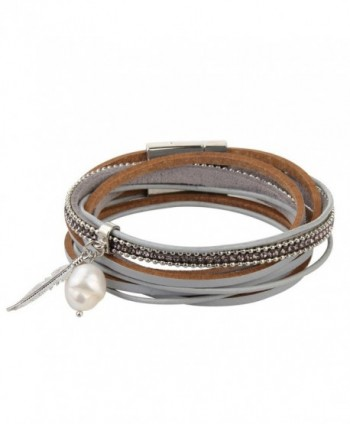 Genuine Leather Vintage Bracelet Jenia in Women's Wrap Bracelets