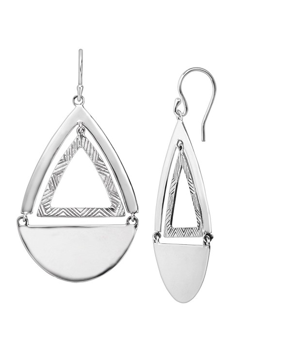 Silpada 'Good Shape' Sterling Silver Drop Earrings - CB12N9L6HXD