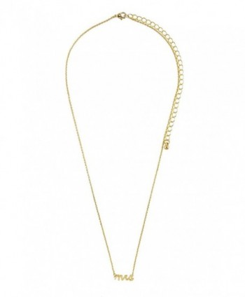 Verbiage Delicate Pendant Necklace Mrs in Women's Pendants