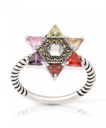 JanKuo Jewelry Rhodium Multicolor Zirconia