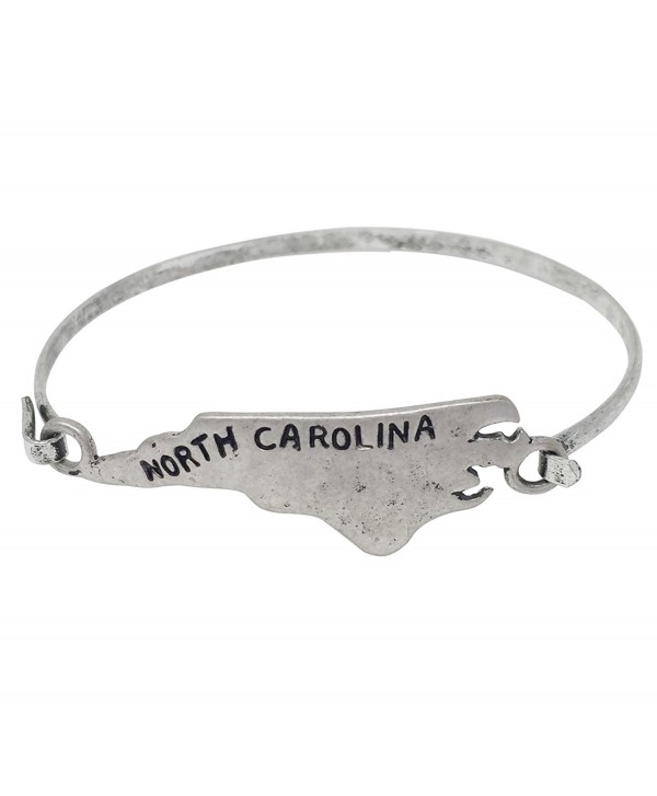 State Shape Map Hook Wire Bangle Bracelet - CX183X9GEDH