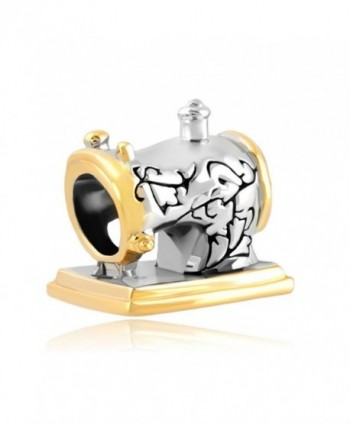 Vintage Sewing Machine Love Lovely Sale Cheap Jewelry Beads Fit Pandora Charms Bracelets - CI128DRLBDX